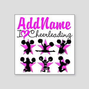 "CHEERLEADER 4EVER Square Sticker 3"" x 3"""