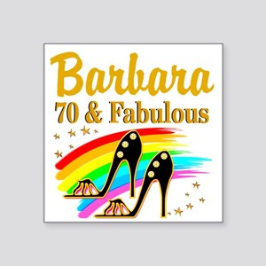 "CELEBRATE 70 Square Sticker 3"" x 3"""