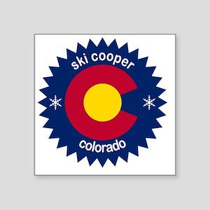 "ski cooper Square Sticker 3"" x 3"""