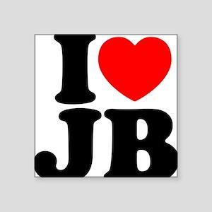 "I Love Jam Bands Square Sticker 3"" x 3"""