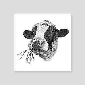 Happy Holstein Friesian Dairy Cow Sticker