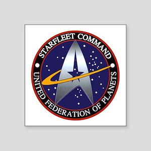 "Starfleet Command Square Sticker 3"" x 3"""