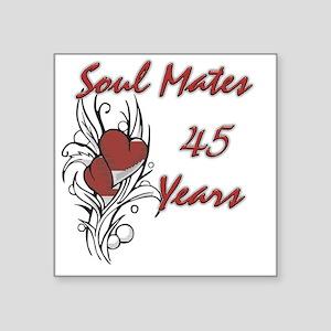 "SOUL MATES Red 45 Square Sticker 3"" x 3"""