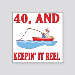 "reel40 Square Sticker 3"" x 3"""