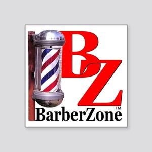 "Official BarberZone Logo Square Sticker 3"" x 3"""