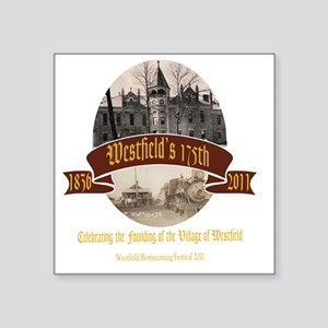 "westfieldshirta-dark Square Sticker 3"" x 3"""