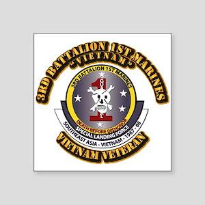 SSI - 3rd Battalion - 1st Marines USMC VN Square S