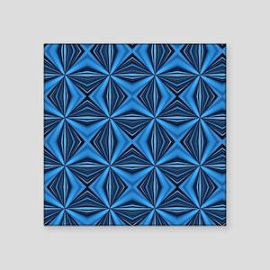 "BLUE DIAMOND ABSTRACT PATTE Square Sticker 3"" x 3"""