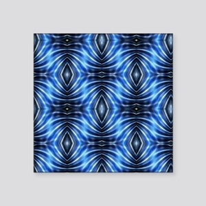 "MODERN BLUE STAR DIAMOND AB Square Sticker 3"" x 3"""