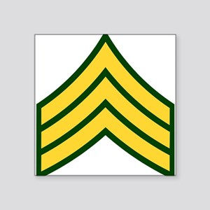 "Army E5 ""Class A's"" Rectangle Sticker"