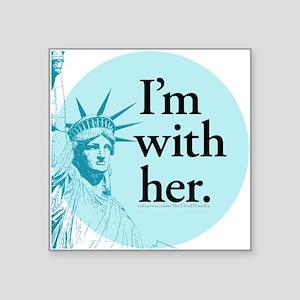 I'm With Her - L Sticker