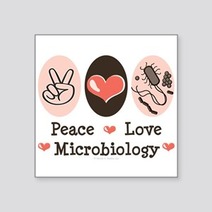 "2-MicrobiologyPL Square Sticker 3"" x 3"""
