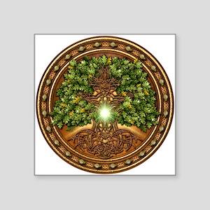 """Sacred Celtic Trees - Oak Square Sticker 3"""" x 3"""""""