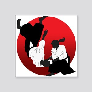 "Aikido Square Sticker 3"" x 3"""