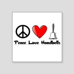Peace, Love, Handbells Sticker