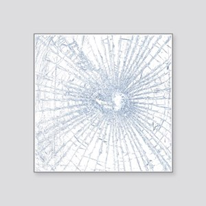 Broken Glass 2 White Sticker
