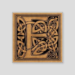 """Celtic Monogram E Square Sticker 3"""" x 3"""""""