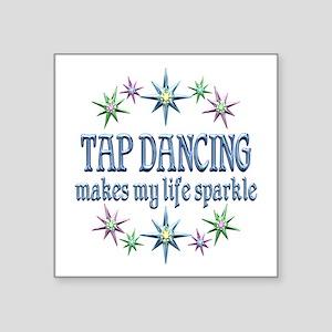 "Tap Dancing Sparkles Square Sticker 3"" x 3"""