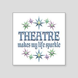 """Theatre Sparkles Square Sticker 3"""" x 3"""""""