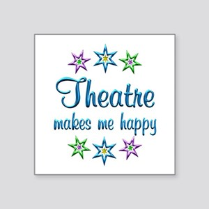"""Theatre Happy Square Sticker 3"""" x 3"""""""