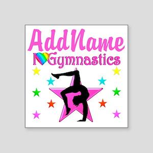 "GYMNAST GIRL Square Sticker 3"" x 3"""