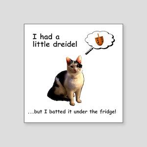 Hanukkah Dreidel Cat Sticker