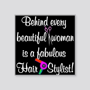 "INSPIRING HAIR STYLIST Square Sticker 3"" x 3"""