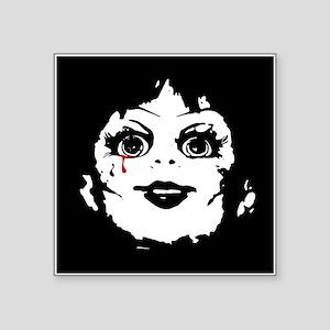 "Annabelle Face Square Sticker 3"" x 3"""
