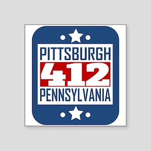 412 Pittsburgh PA Area Code Sticker