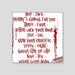 """Freddy Song Square Sticker 3"""" x 3"""""""
