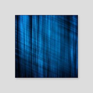 """futuristic abstract blue ge Square Sticker 3"""" x 3"""""""