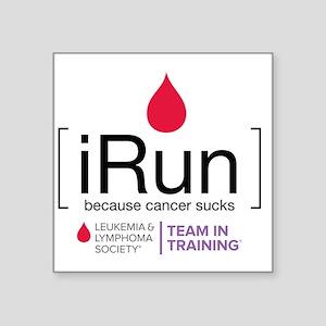 "irun Square Sticker 3"" x 3"""