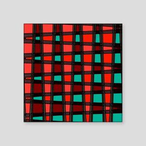 """Stylish Funky Art Pattern Square Sticker 3"""" x 3"""""""