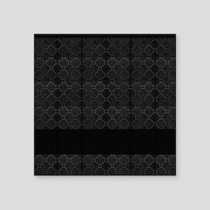 "Black Mosaic Tile Pattern Square Sticker 3"" x 3"""