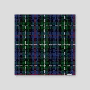 """MacKenzie Tartan Shower Cur Square Sticker 3"""" x 3"""""""