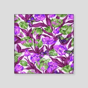 """Tulips Square Sticker 3"""" x 3"""""""