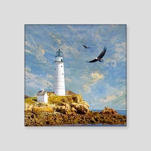 "Lighthouse7100 Square Sticker 3"" x 3"""