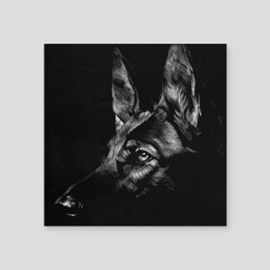 "German Shepherd Square Sticker 3"" x 3"""