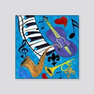 "Jazz Square Sticker 3"" x 3"""