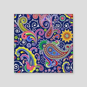 "colorful paisley Square Sticker 3"" x 3"""