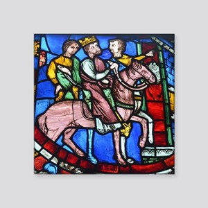 "Stained Glass Square Sticker 3"" x 3"""
