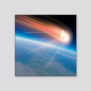 Sputnik 1 satellite, computer artwork - Square Sti