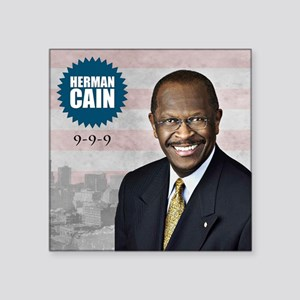 "sept_herman_cain Square Sticker 3"" x 3"""