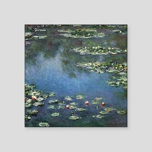 "Waterlilies by Claude Monet Square Sticker 3"" x 3"""
