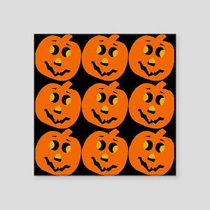 """Pumpkin Pattern Square Sticker 3"""" x 3"""""""