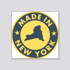 """2-Made-In-nEW-yORK Square Sticker 3"""" x 3"""""""