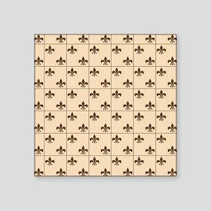 """Fleur De Lis Square Sticker 3"""" x 3"""""""