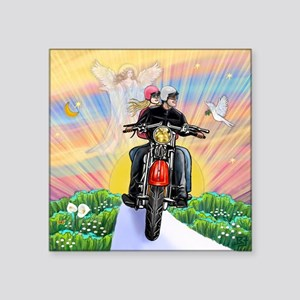 """TILE-GuardianBlessing-Motor Square Sticker 3"""" x 3"""""""