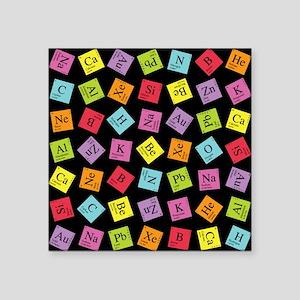 """periodic_3 Square Sticker 3"""" x 3"""""""