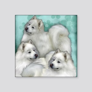 "samoyed dogs Square Sticker 3"" x 3"""